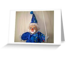 Clown in a swing Greeting Card