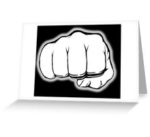 FIST, PUNCH, fight, Strength, Power, Grasp, tough, Karate, Martial Arts, MMA, on Black Greeting Card