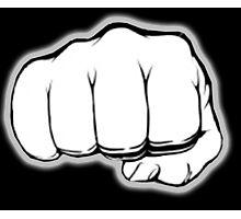 FIST, PUNCH, fight, Strength, Power, Grasp, tough, Karate, Martial Arts, MMA, on Black Photographic Print