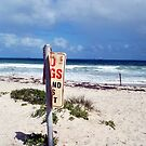 Beach Sign Four by Robert Phillips