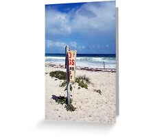 Beach Sign Four Greeting Card