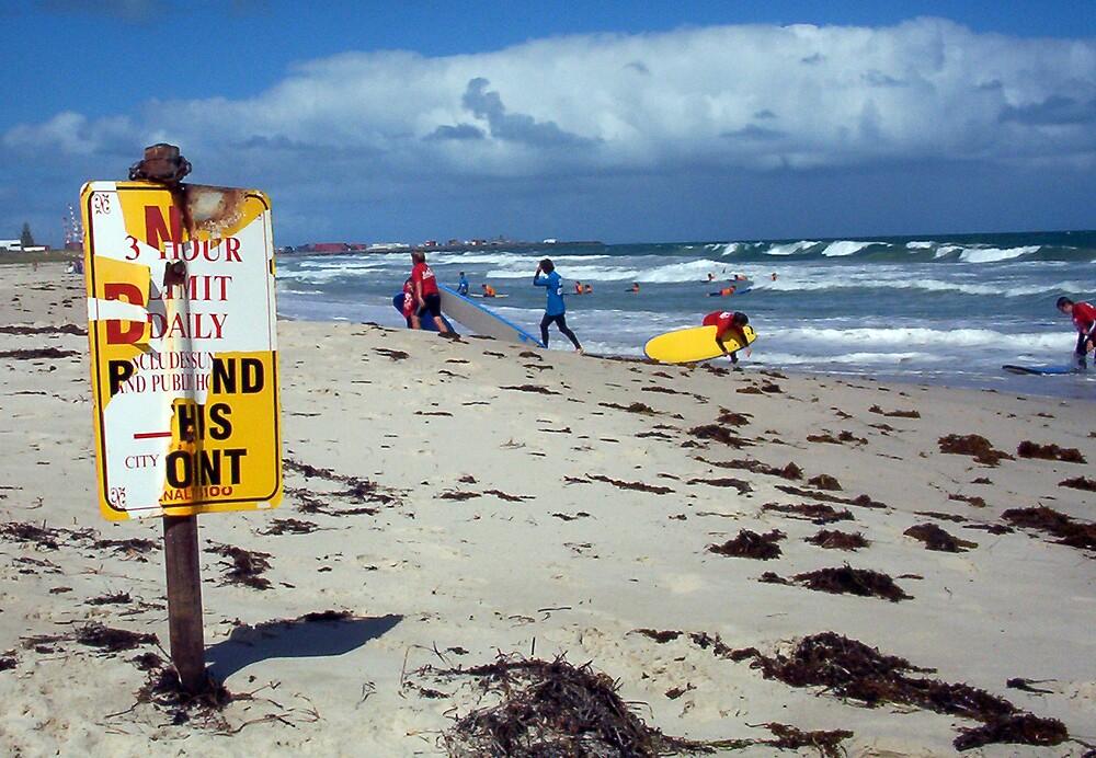 Beach Sign Three by Robert Phillips