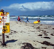 Beach Sign Three by Robert Phillips