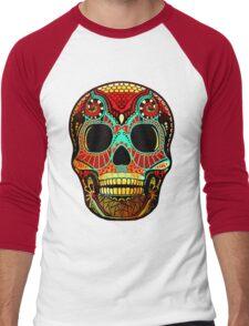 Grunge Skull No.2 Men's Baseball ¾ T-Shirt