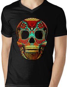 Grunge Skull No.2 Mens V-Neck T-Shirt