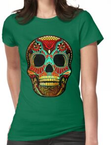 Grunge Skull No.2 Womens Fitted T-Shirt