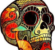 Grunge Skull by Kerstin Schoene