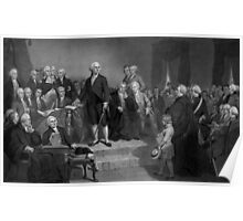 Washington Delivering His Inaugural Poster