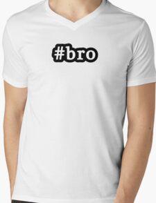 Bro - Hashtag - Black & White Mens V-Neck T-Shirt
