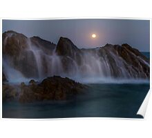 Moon rise in Forster NSW Poster