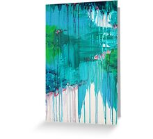 BLUE MONSOON - Stunning Rain Storm Dark Teal Clouds Vancouver Navy Royal Blue Kelly Green Crimson Red Purple Greeting Card