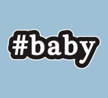 Baby - Hashtag - Black & White Baby Tee