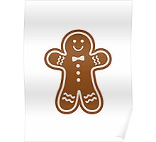 Gingerbread Hugs Poster