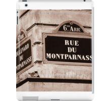 Rue Du Montparnasse iPad Case/Skin