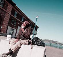 Sidewalks of San Francisco: Wise Old Man by Steven  Van Gucht