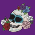 Skull with Roses by Kimberly Temple