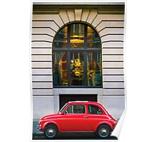 Red Car in front of an arc Poster