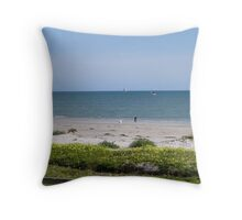 'SUNDAY IS 'DOGS DAY OUT'! at Semaphore Beach. S.A. Throw Pillow