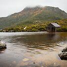 Dove Lake boat house by Rosie Appleton