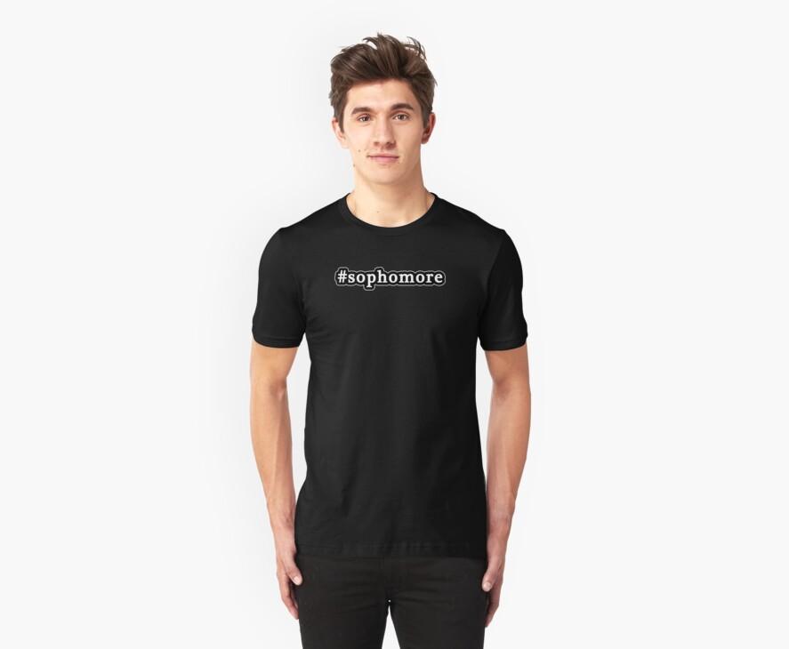 Sophomore - Hashtag - Black & White by graphix