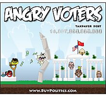 Angry Voters Photographic Print