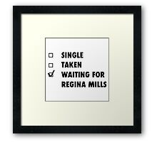 Waiting for Regina Mills Framed Print