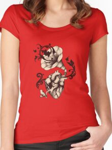 Listen to your heart Women's Fitted Scoop T-Shirt