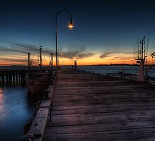 San Remo pier at sunset by collpics