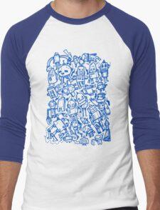 Lots of Robots Men's Baseball ¾ T-Shirt