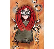 Girl Quirky—Rocket Power Photographic Print