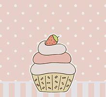 Strawberry Cupcake by ohmyglob