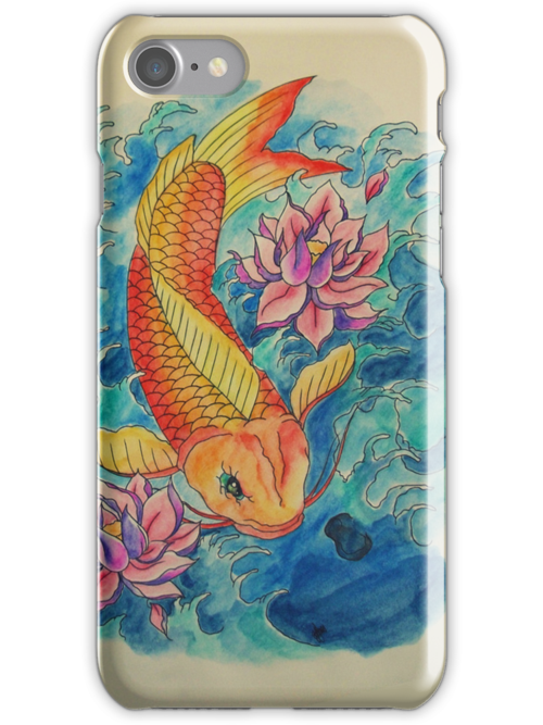Koi and Flower by ohmyglob