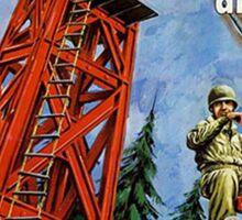 Action Man training tower Sticker
