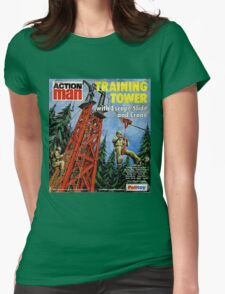 Action Man training tower Womens Fitted T-Shirt