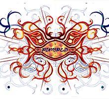 """Pumped"" Celtic Cross (Fire) by StormSageRain"