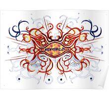 """Pumped"" Celtic Cross (Fire) Poster"