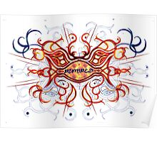 """Pumped"" Celtic Cross (Fire) Poster"