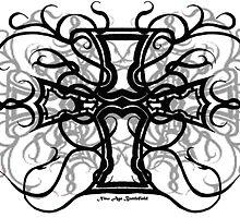 Celtic Cross (Black & White) by StormSageRain