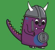 History Mash up - Viking Dinosaur Kids Tee