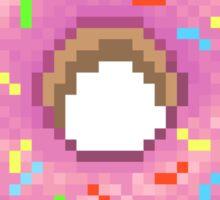 Pixel Pink Frosted Sprinkled Donut Sticker