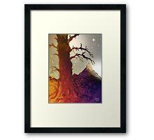 Fantasy Tree Pen Drawing Framed Print
