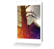Fantasy Tree Pen Drawing Greeting Card