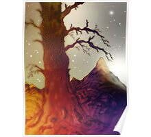 Fantasy Tree Pen Drawing Poster