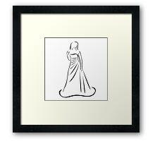 Bride in wedding dress  Framed Print