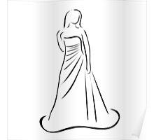 Bride in wedding dress  Poster