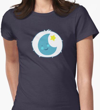 Bedtime Bear - Carebears - cartoon logo Womens Fitted T-Shirt