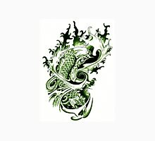 Japanese Koi Tattoo style green Unisex T-Shirt