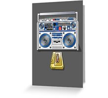 Retro Star Wars Boom box/Ghetto Blaster R2-D2 C-3PO Greeting Card