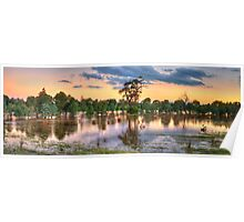 A Land of Droughts & Flooding Rains - Junee, NSW Australia (35 Exposure Pano) - The HDR Experience Poster