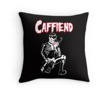 Caffiend-Coffee Danzig Misfits mash-up Throw Pillow